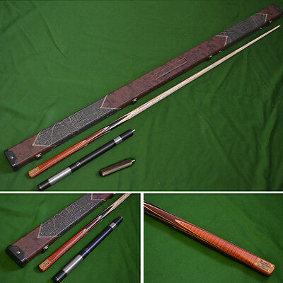 Handmade 1 piece Snooker Cue (Butt: Rosewood/Exotic Woods) - Case - Extension