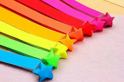 60 pieces ORIGAMI LUCKY STAR PAPER  - 8 bright colors, make your lucky jar
