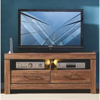 tv board gent lowboard unterschrank fernsehschrank in akazie dunkel inkl led eur 289 95. Black Bedroom Furniture Sets. Home Design Ideas