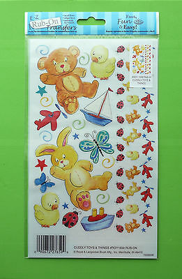 E-Z Rub On Transfers Sentiments For Cardmaking & Scrapbooking - Cuddly Toys