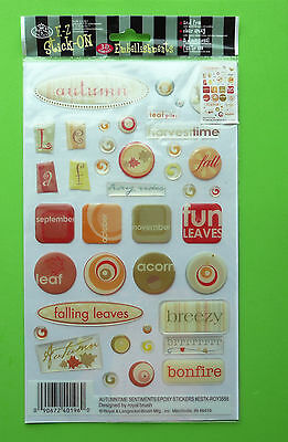 3D E-Z Stick-On Transfers Embellishment Cardmaking-Scrapbooking - Autumn Time