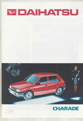 1986 Daihatsu Charade Brochure German wv3618