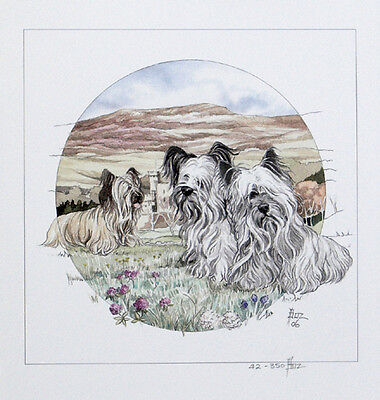 "SKYE TERRIER DOG FINE ART LIMITED EDITION PRINT - ""Skyes on the Island"""