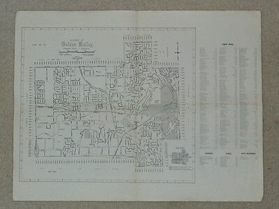 1962 MAP OF GOLDEN VALLEY Minnesota Hennepin County Village Suburb Revised