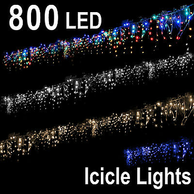 800 Leds Party Christmas Wedding Led Icicle String Lights Rope