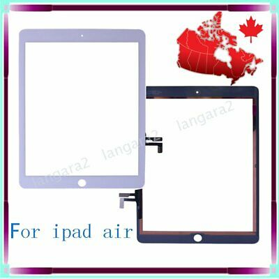 White For IPAD 5 air Digitizer Touch Screen Front Glass Replacement