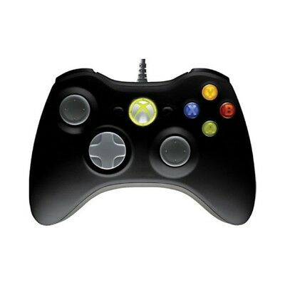 New Official Microsoft Xbox 360 Wired Controller for PC - Black 52A-00005