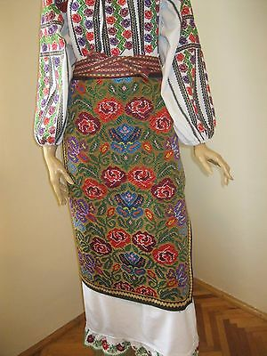 Vintage hand woven Romanian  costume wrap skirt from Muscel  , Arges