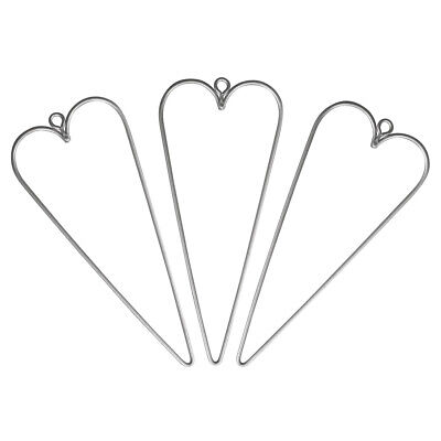 3 Hanging Wire Hearts for Decoration | Metal Wire & Craft Hoops