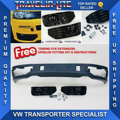For VW T5 Transporter Lower Sportline Front Spoiler Splitter PU Plastic Facelift