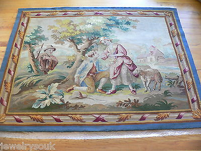 Antique 19Th Century French Aubusson Tapestry