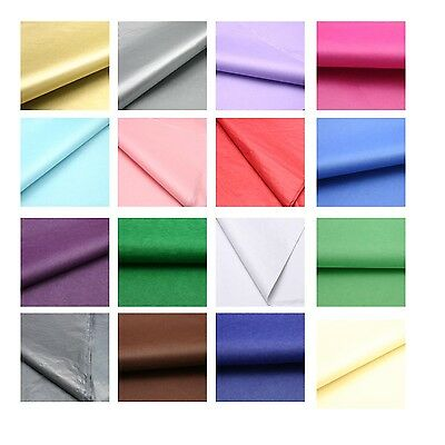 """Top Quality 17gsm Coloured Acid Free and Metallic Tissue Paper 500x750mm/20x30"""""""