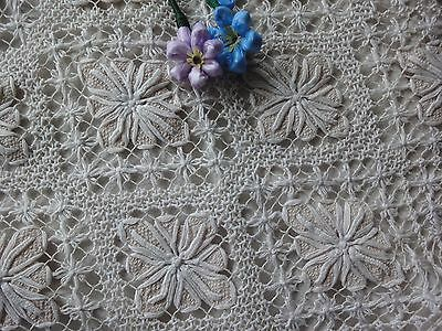 Beautiful Floral Vintage Handmade Cotton Filet Lace Pillowcase