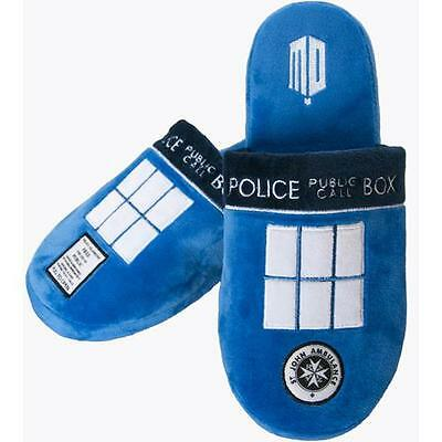 Dr Who - Tardis Anti-Slip Sole Mule Slippers  - New & Official BBC Merchandise