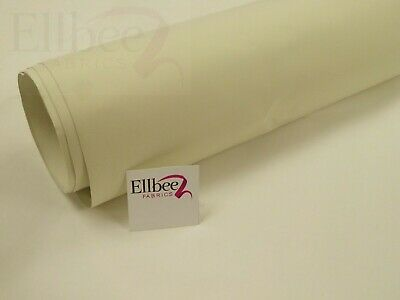 "CREAM - THERMAL BLACKOUT CURTAIN LINING FABRIC - 54"" wide SUPER SOFT FINISH"