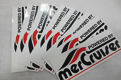Mercury merCruiser Marine Vinyl decals pack of 8 decals NICE Vintage 10 x 3 1/4