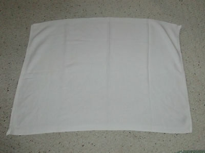 Cotton Solid Plain White Knit Knitted Weave Woven Unisex Boy Girl Baby Blanket