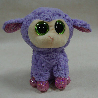 ty beanies boos Sheep Lavender NO HEART TAG stuffed animal toy