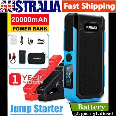 Suaoki 20000mAh 800A Car Vehicle Jump Starter Battery Booster Emergency Charger