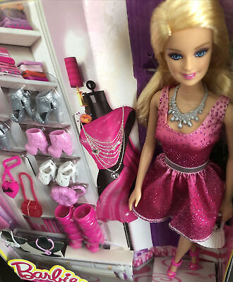 Barbie Doll With Shoes, Bags & Necklace Accessories Giftset