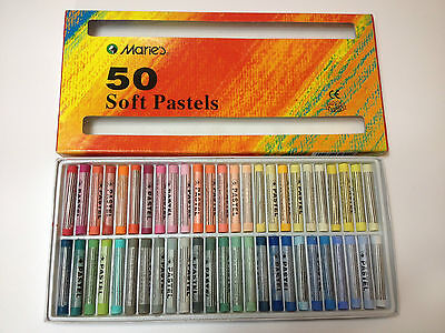 Maries Soft Pastels Artist pastel 50 pieces Pastel Set Chalk Pastel Set