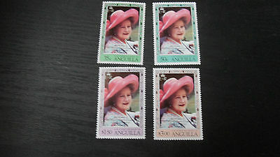 Anguilla 1980 Sg 441-414 80Th Birthday Of Queen Mother Mnh