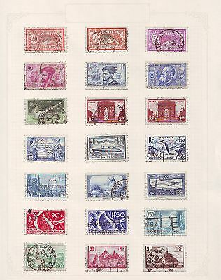 Antique STAMPS France / Exposition International ON PAGE Postally Used