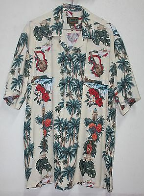 Hawaii Shirt Button Down Hawaiian Reserve Collection Medium Size AnMlcflJ
