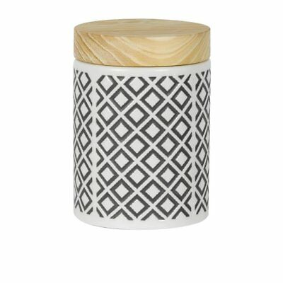 NEW Leaf & Bean Embossed Canister 1.15L Grey