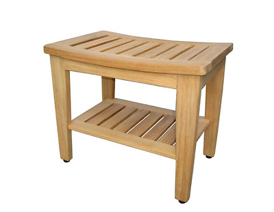 TEAK WOOD SHOWER Bench, Stool, Spa Seat, Corner Tub, Medical Chair ...