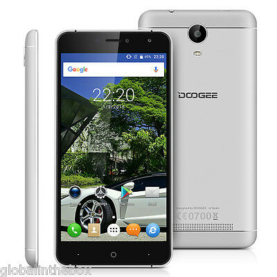 "6""doogee X7 Cellulare Argento 3G Telefono Ouadcore Android 6.0 1Gb+16Gb Wifi Eu"