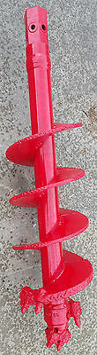 """Extreme Duty 12"""" Multiplane Bullet Tooth Rock Auger with 2"""" Hex Hub"""