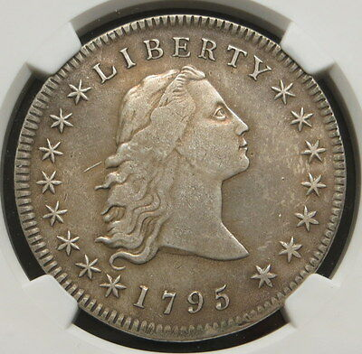 1795 Flowing Hair Silver Dollar, NGC Certified XF DETAILS