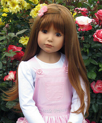 "Masterpiece * Emily Strawberry Blonde Wig Only For 46"" Dolls (No Doll Included)"