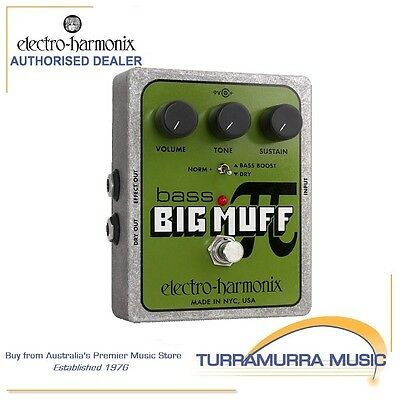 Electro Harmonix Bass Big Muff Pi Distortion / Sustain Effect FX Pedal