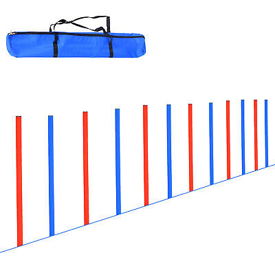 PawHut Pet Agility Set Training Dogs Outdoor Outward Play Adjustable Jump Pole