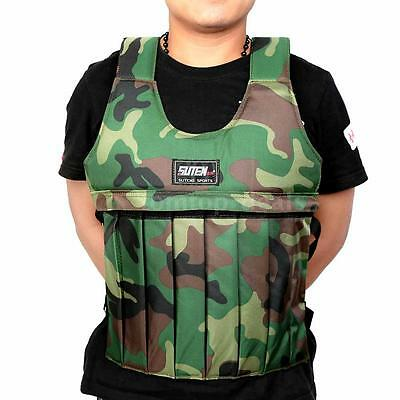 New 20KG Adjustable Weighted Workout Weight Vest Training Enhance Muscle B1S5