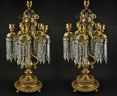 Antique 19th century Russian Pair of candle holders