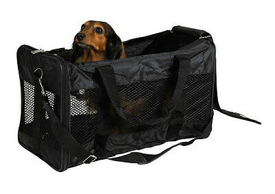 Trixie Transport Bag Ryan Pet Bag For Dogs & Cats Black 26 × 27 × 47 cm 28841