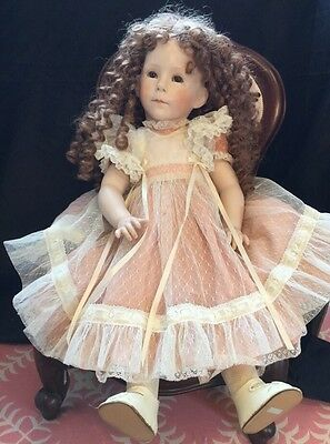 """Beautiful Willow Porcelain Doll By L Chick 25"""""""