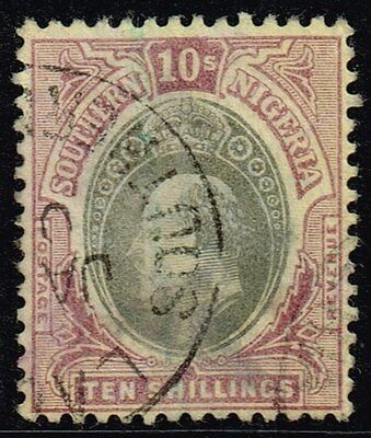 Southern Nigeria 1903-04 10s. grey-black & purple / yellow, used (SG#19)