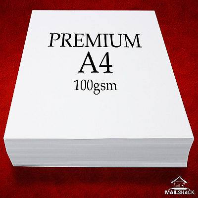 1000 Sheets A4 PREMIUM White Paper 100gsm | High Quality Laser Copier Printing