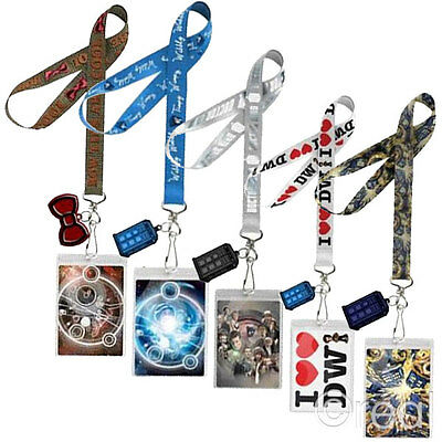 New Doctor Who Van Gogh Exploding TARDIS Silver Bowtie Timey Wimey Lanyard ID