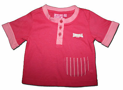 New LONSDALE Size 3-6 months Hot Pink Baby Girl T-SHIRT
