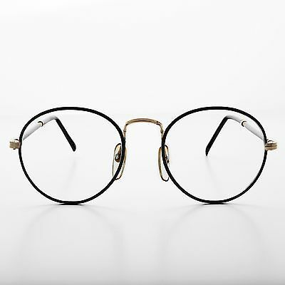 b1973f61498f Polo Shape Round Clear Glass Lens Glasses Vintage New Old Stock Black- Alex