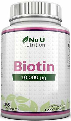 Biotin 10,000mcg  365 tablets Maximum strength Healthy Hair Skin Nails Growth