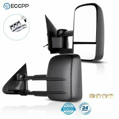 Side View Mirror Power Pair Set for 97-03 Ford F150 Towing Mirrors L+R NO Heated