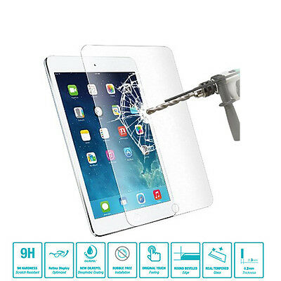 GENUINE PREMIUM TEMPERED GLASS FILM SCREEN PROTECTOR FOR APPLE iPAD MINI 1 2 3
