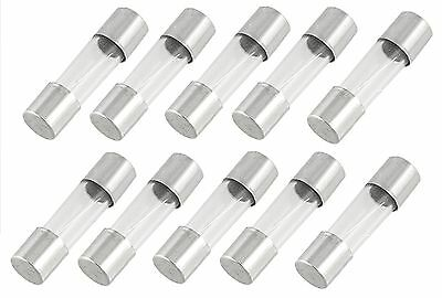 Pack of 10 - SLOW BLOW / TIME DELAY - 20mm x 5mm Glass Fuses - 100mA - 16A