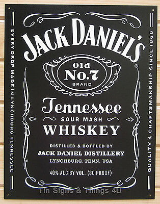 Jack Daniels LICENSED TIN SIGN REPRODUCTION whiskey bar decor metal poster 1917
